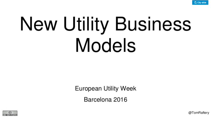 New Business Models for Utilities